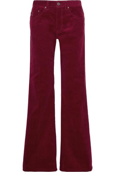marc jacobs female marc jacobs corduroy wideleg pants burgundy