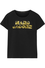 Marc Jacobs Metallic printed cotton T-shirt