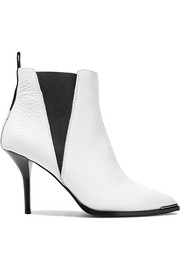 Jemma textured-leather ankle boots