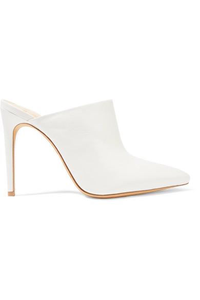Amaliah Pointy Toe Mule in White