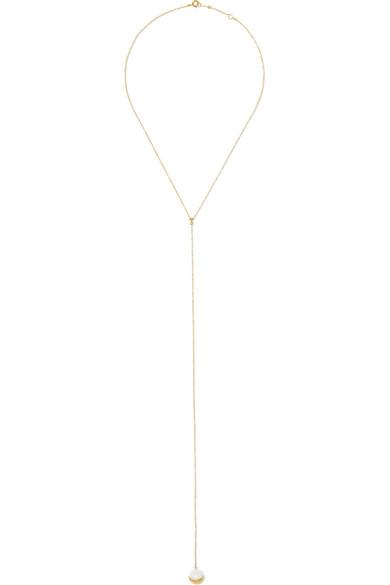 Mizuki - 14-karat Gold, Diamond And Pearl Necklace