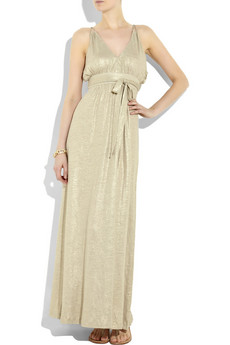 Tibi Metallic%20linen%20gown