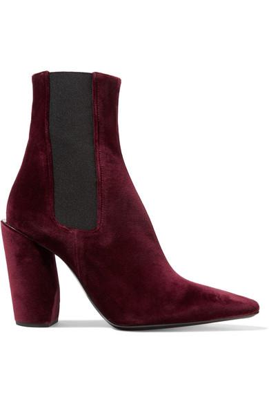 Jil Sander - Velvet Ankle Boots - Burgundy