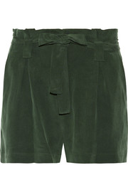 Alex washed silk-crepe shorts