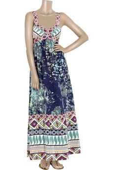 Tibi Caracas%20printed%20silk%20maxi%20dress