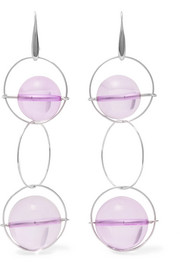 Silver-plated Plexiglas earrings