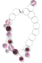 Marni Silver-plated Plexiglas necklace