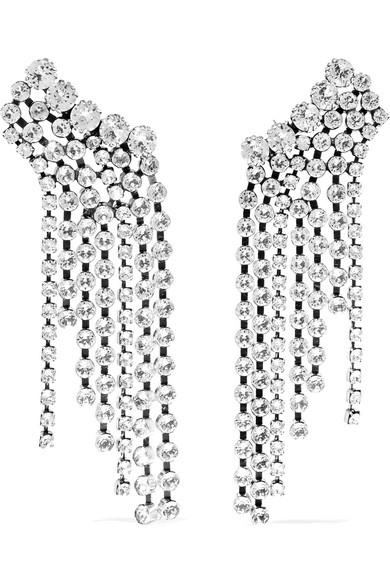 8a4071009e Isabel Marant | Silver-tone crystal earrings | NET-A-PORTER.COM