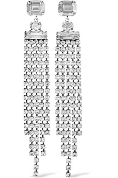 Isabel Marant - Silver-tone Crystal Earrings