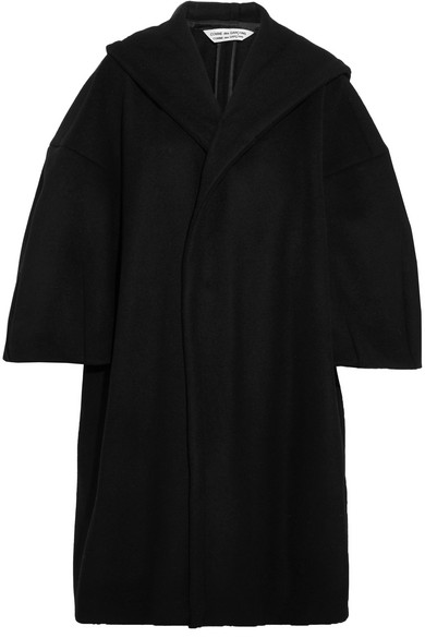 4d0deb52d Oversized hooded wool-blend coat