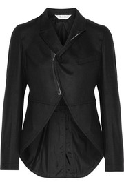 Asymmetric wool-felt jacket