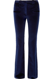 Serge cotton-blend velvet flared pants