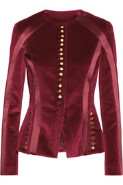 Altuzarra Cavendish silk satin-trimmed velvet jacket