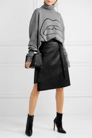 Markus Lupfer Erin oversized intarsia wool turtleneck sweater