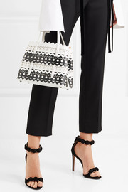 Alaïa Small two-tone laser-cut leather tote