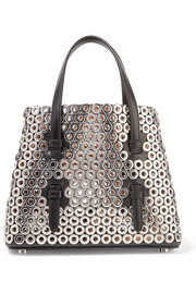 Alaïa Ultra mini eyelet-embellished leather tote