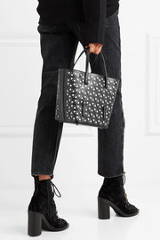 Alaïa Two-tone laser-cut leather tote