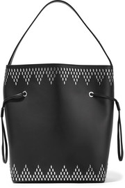 Studded leather shoulder bag