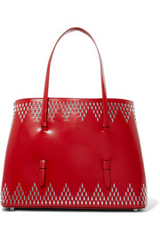Medium studded leather tote