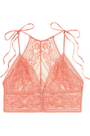Stella McCartney Ophelia Whistling stretch-Leavers lace soft-cup bra