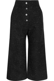 Donegal cotton-blend culottes