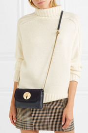 See by Chloé Lois mini suede and leather shoulder bag