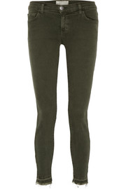 The Stiletto frayed mid-rise skinny jeans