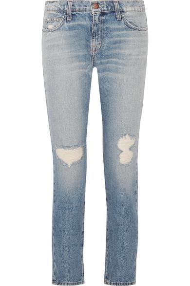 Current/elliott Woman Distressed Mid-rise Skinny Jeans Mid Denim Size 27 Current Elliott 3eBr9tb1v