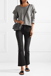 Current/Elliott Ruffled printed cotton-blend terry sweatshirt