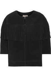 Current/Elliott The Junie fringe-trimmed suede jacket