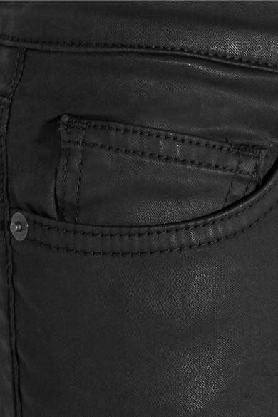 Current/Elliott The High Waist hoch sitzende Skinny Jeans mit Beschichtung