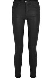 Current/Elliott The High Waist coated skinny jeans