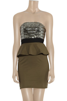 Alice + Olivia Sequin bustier cotton dress