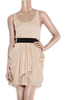 Alice + OliviaGeorgette draped mini dress