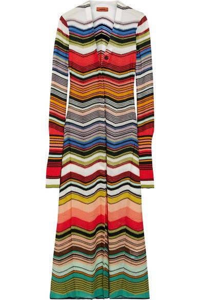 Missoni - Striped Crochet-knit Cardigan - Red