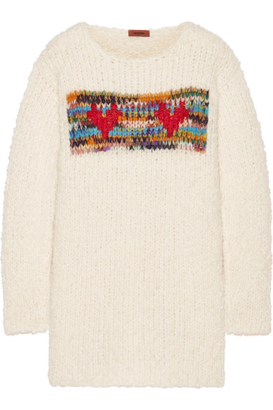 Missoni - Intarsia Chunky-knit Sweater - Off-white