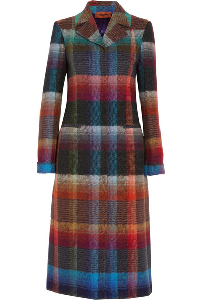 Missoni - Checked Mohair-blend Coat - Orange