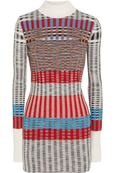 Missoni - Ribbed Wool-blend Turtleneck Sweater - Gray