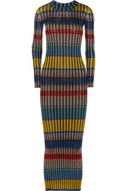 Missoni Metallic ribbed-knit maxi dress