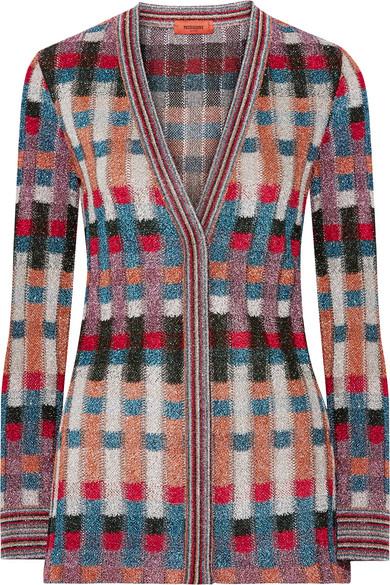Missoni - Metallic Jacquard-knit Cardigan - Blue