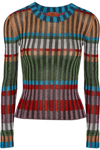 Missoni - Metallic Ribbed-knit Sweater - Green