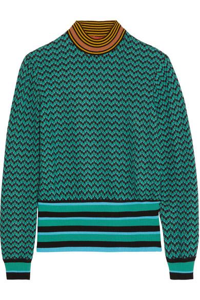 Missoni - Crochet-knit Wool-blend Sweater - Green