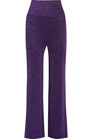 Missoni - Metallic Knitted Wide-leg Pants - Purple