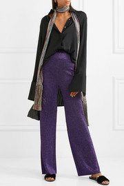 Missoni Metallic knitted wide-leg pants