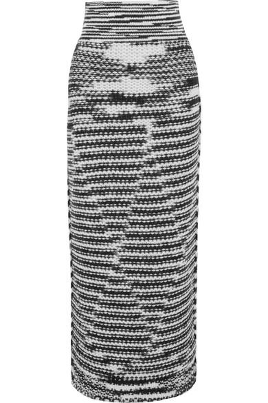 Missoni - Alpaca-blend Jacquard-knit Midi Skirt - Black