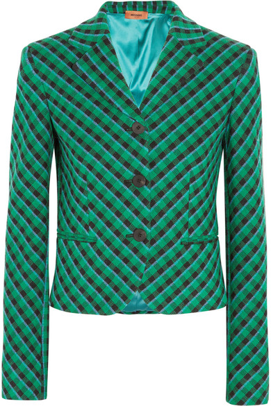 Missoni - Checked Wool-blend Blazer - Green