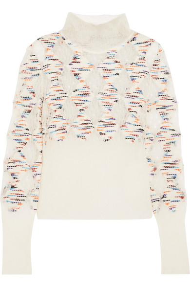 Missoni - Mohair, Wool, Goat Hair And Alpaca-blend Turtleneck Sweater - Cream