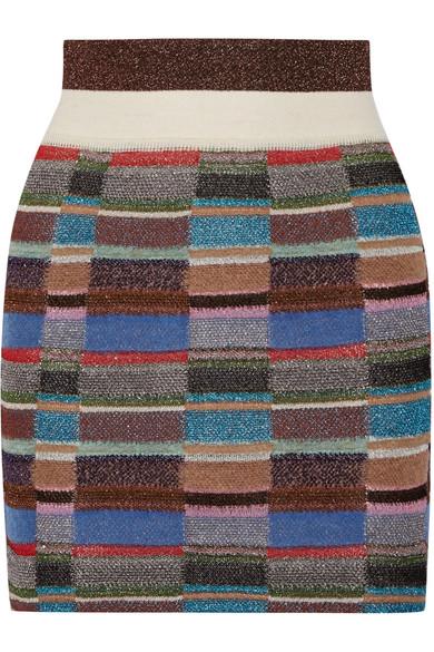 Missoni - Metallic Crochet-knit Mini Skirt - Blue