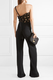 Roland Mouret Colburn one-shoulder fil coupé cloqué  and cady jumpsuit