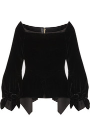 Wicklow off-the-shoulder velvet top